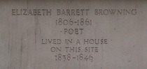 Elizabeth Barrett Browning stone inscription