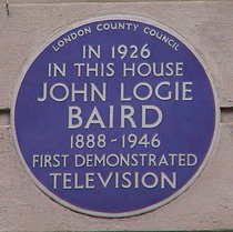 John Logie Baird and TV demonstration