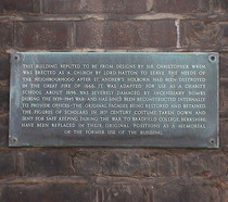 Charity School - plaque