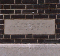 Sir E Waterhouse - foundation stone