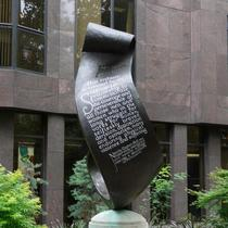 Suffragettes sculpture scroll