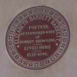 Elizabeth Barrett Browning plaque