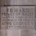 Foundation stone for Royal Commonwealth Society