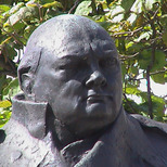 Churchill statue - Parliament Square