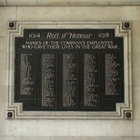 Waterloo WW1 war memorial
