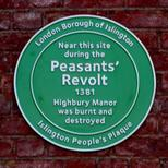 Peasants' Revolt & Highbury Manor