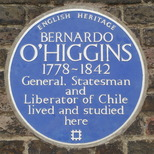 Bernardo O'Higgins plaque