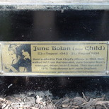 Marc Bolan shrine - plaque - June