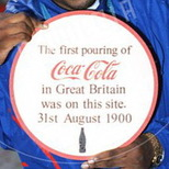 Coca-Cola lost plaque