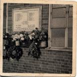 WW2 memorial - Hindle House - plaque's first appearance