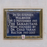 Samaritans - City of London plaque