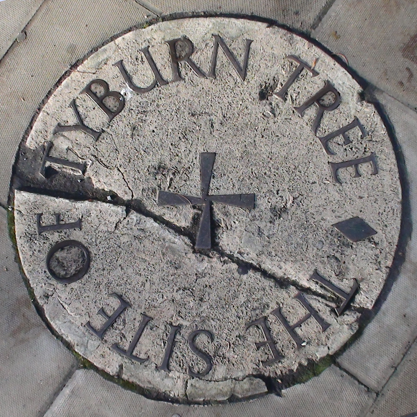 Tyburn Tree Pavement Plaque London Remembers Aiming